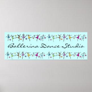 Ballerina Dance Banner Poster