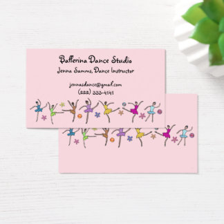 Ballerina Dance Business Cards
