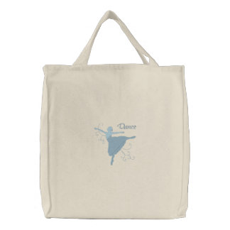 Ballerina - Dance Embroidered Tote Bag