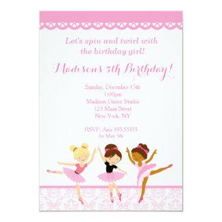 Ballerina Dancer Birthday Invitations
