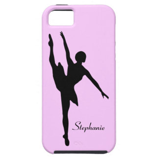 Ballerina Dancer Black Pink Ballet Custom Name Tough iPhone 5 Case