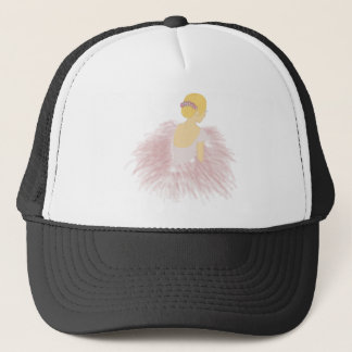 Ballerina Dancer Blonde Trucker Hat