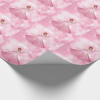 Ballerina Dancer in Pink with Bokeh Background Wrapping Paper