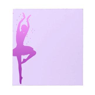 Ballerina dancer notepad