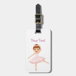 Ballerina Dancer with brown hair Luggage Tag