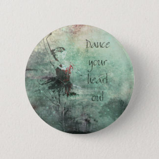Ballerina Dancing Her Heart Out 6 Cm Round Badge