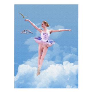 Ballerina Dancing in the Clouds Postcard