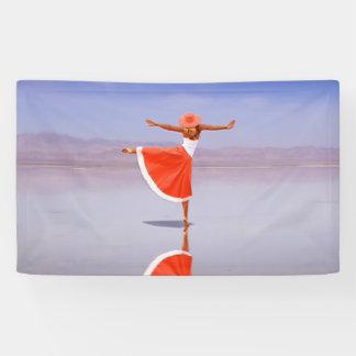 Ballerina Dancing on the Beach Banner
