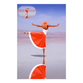 Ballerina Dancing on the Beach Stationery