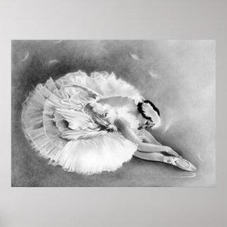 Ballerina Dying Swan Poster