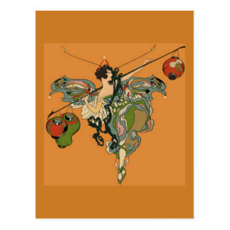 Ballerina Faerie With Lanterns Postcard