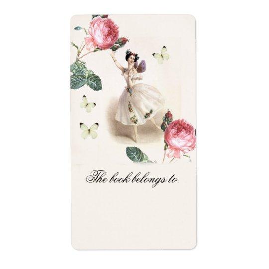 Ballerina Fairy   Bookplate