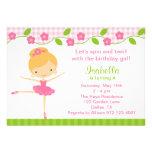 Ballerina Girl Birthday Party Invitations Invite