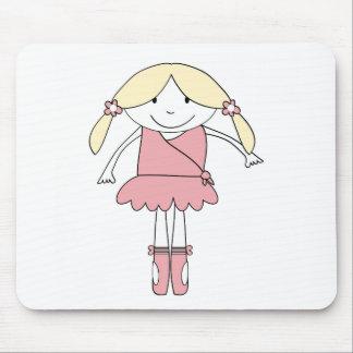 Ballerina Girl Mouse Pad