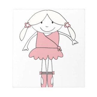 Ballerina Girl Notepad