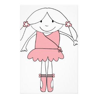 Ballerina Girl Stationery Paper