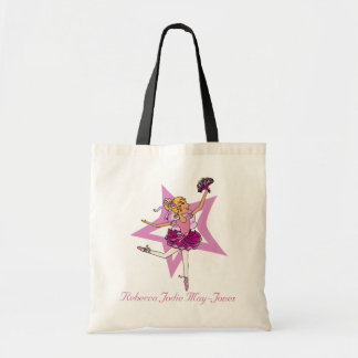 Ballerina girls personalized name pink ballet bag