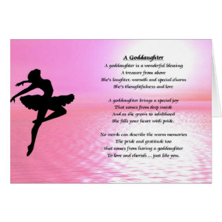 Ballerina Goddaughter Poem Card