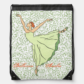 Ballerina Grace Drawstring Bag