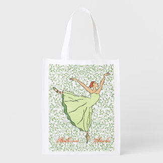 Ballerina Grace Reusable Grocery Bag