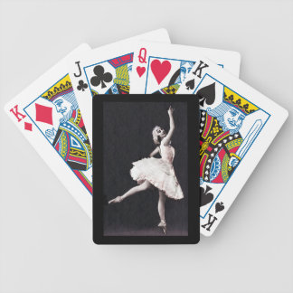 Ballerina in Antique  Ruffles Bicycle Playing Cards