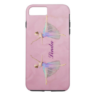 Ballerina in Arabesque,  Customizable Name iPhone 8 Plus/7 Plus Case