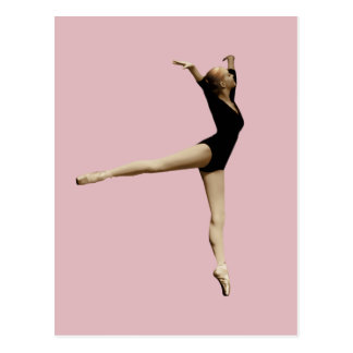 Ballerina in Black Customizable Postcard