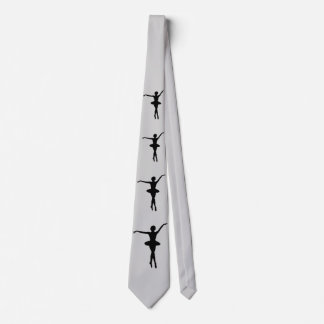 Ballerina in Black Silhouette Customizable Tie
