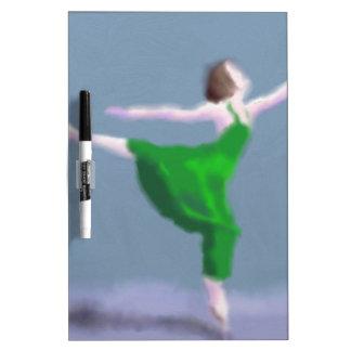 Ballerina in Green Art Dry Erase Board
