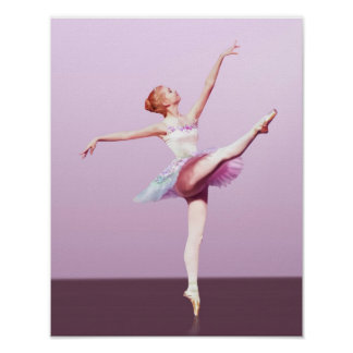 Ballerina in Pink and Lavender Poster