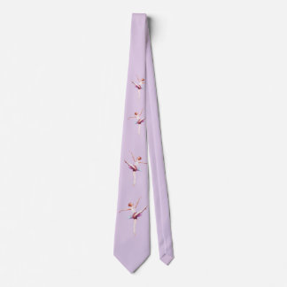 Ballerina in Pink and Lavender Tie