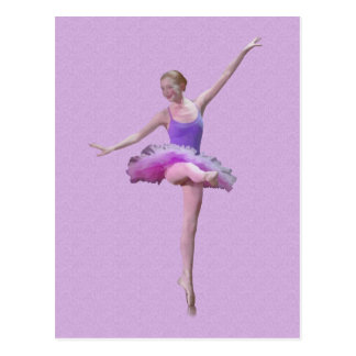 Ballerina in Pink and Purple Postcard