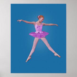 Ballerina in Pink Costume Print
