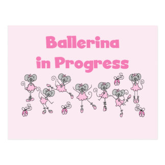 Ballerina in Progress T-shirts and Gifts Postcards