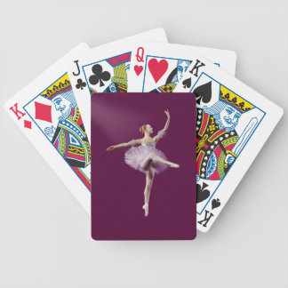 Ballerina in Purple and White Customizable Deck Of Cards