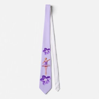 Ballerina in Purple and White Tie