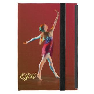 Ballerina in Red, Monogram Cover For iPad Mini