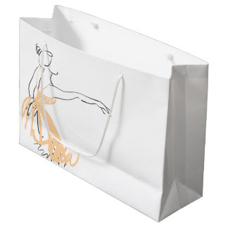 Ballerina in Soft Peach Large Gift Bag