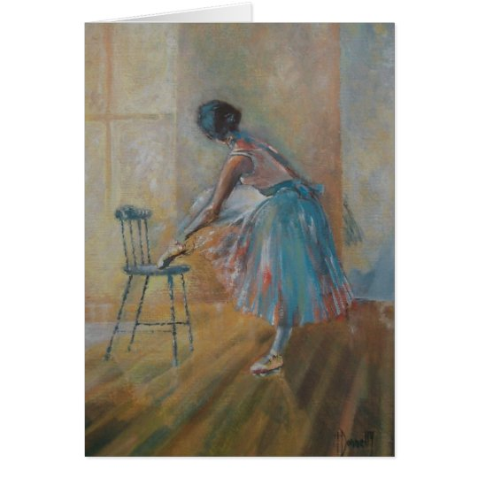 Ballerina in Watercolour Card
