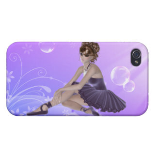 Ballerina iPhone 4 Glossy Finish Case, Lilac iPhone 4/4S Cases