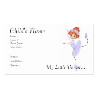 Ballerina Mommy/Daddy Cards Business Cards