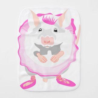 ballerina mouse burp cloth