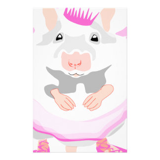 ballerina mouse stationery