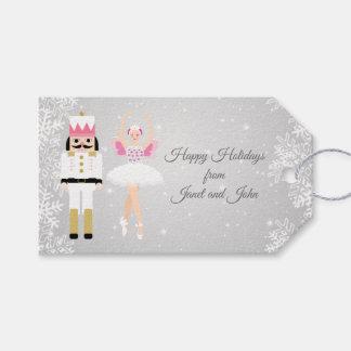 Ballerina & Nutckraker Christmas Gift tag