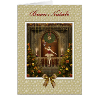 Ballerina Nutcracker Italian Buon Natale Card