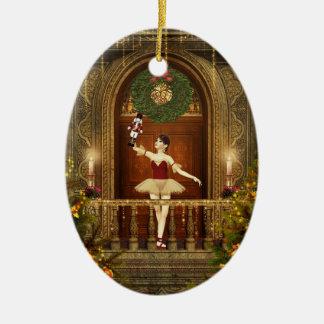 Ballerina Nutcracker Personlized Oval Ornament