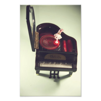 Ballerina on a piano music box photo