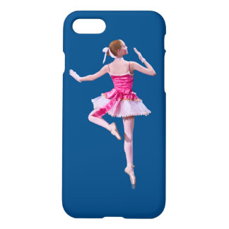 Ballerina on Blue iPhone 7 Case