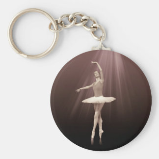 Ballerina On Pointe in Russet Tint Key Ring