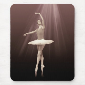 Ballerina On Pointe in Russet Tint Mouse Pad